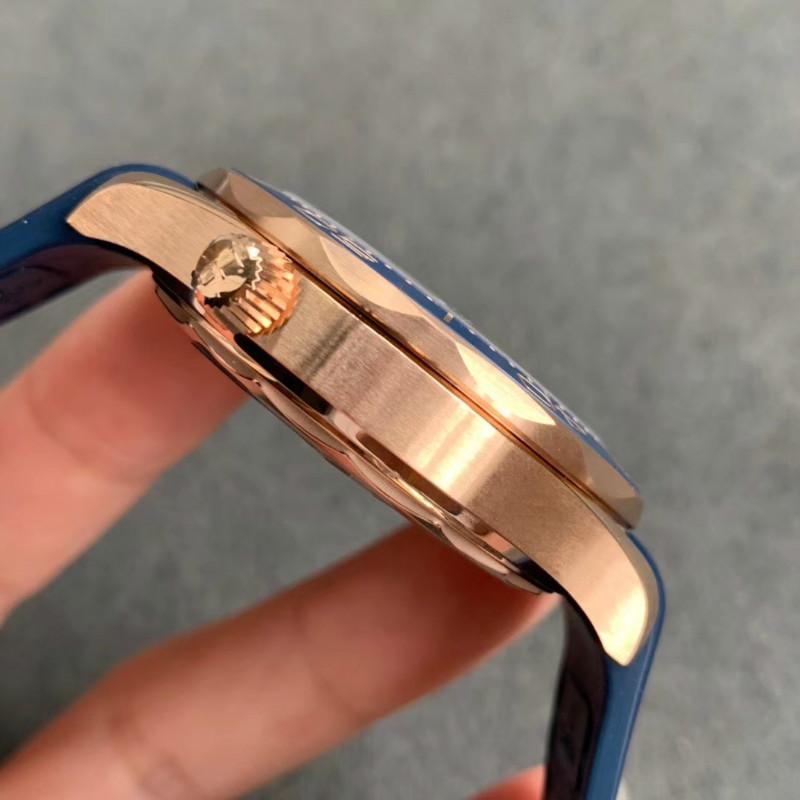 VS厂欧米茄海马300全蓝玫瑰金质量-VS厂全蓝玫瑰金真假对比一眼假