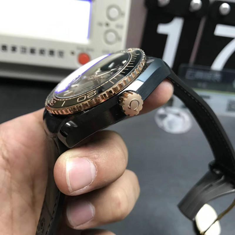 VS欧米茄海马600深海之王玫瑰金质量怎么样,对比正品一眼假?